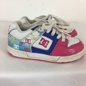 DC Skate Shoes Sneakers Toddler Girls Leather